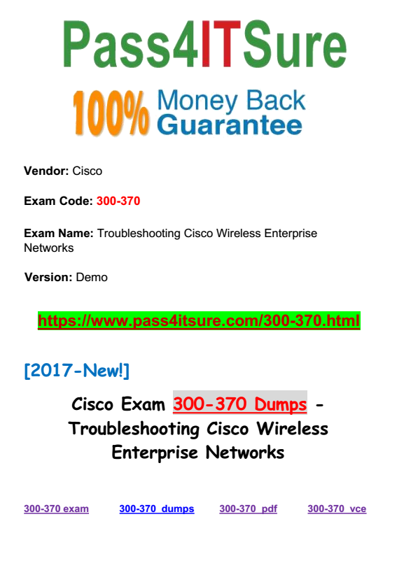 300-370 dumps | Pass4itsure Discounted Real Exam Questions