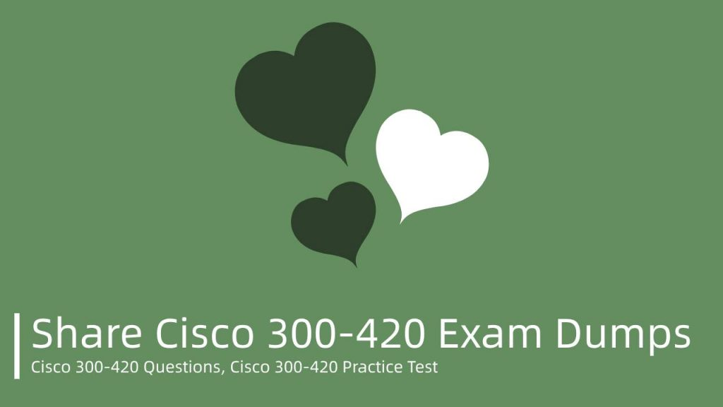 Free Cisco 300-420 Exam Dumps